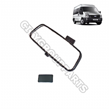 FORD TRANSIT MODELS FROM 2000  TO 2014 INTERIOR REAR VIEW MIRROR WIDE BASE TYPE + ADHESIVE PAD